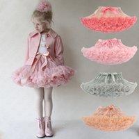 Summer Women Girls Tutu Skirt Lolita Pettiskirt Petticoat Elastic Fluffy Chiffon Tutus Party Ballet Pleated Dresses Princess Skirt D61608