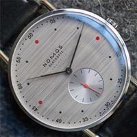 Mode Lässig Marke NOMOS Wasserdichte Leder Geschäfts Quarz Uhr Männer Kleid Uhren Frauen