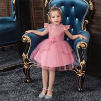 자수 한 어깨 어린이 공주 정장 드레스 꽃 아이 웨딩 저녁 댄스 파티 드레스 소녀 크리스마스 파티를위한 드레스