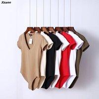 Jumpsuits das Mulheres Macacão 2021 V Pescoço Bodysuit Mulheres Verão Curto Bodal Terno Shorts Playsuit para XNXee