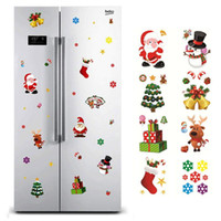 Noel Pencere Sticker Noel Baba / Kardan Adam / Ev Natal yeni yıl için Elk Cam Sticker Yılbaşı Noel Süsleri Hediye Noel