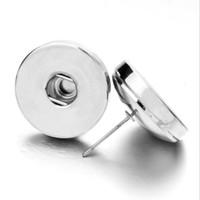Noosa Ginger Snap Ohrstecker für Männer Frauen Durchbohrte Ohren Ohrringe 18mm Austauschbare Taste Schmuck zum Verkauf