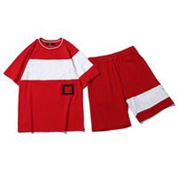 las mujeres chándal Cartas bordado verano de los hombres de diseño de deporte de manga corta Pantalones Pullover basculador informal de los trajes del O-Cuello Sportsuit