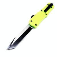 A07 verde grande 9inch dupla ação auto-defesa tático dobrável presente duplas de ação EDC faca auto canivete auto facas xmas bm47 Admi