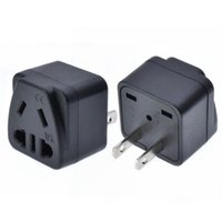 US 2 Flat Parallel Pins Travel Adapter , US AU China 2pin 3p...