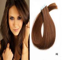 9A البرازيلي الشعر التمديد الشريط 100G PU الجلد اللحمة ملحقات الشعر مستقيم نمط الشريط الشعر