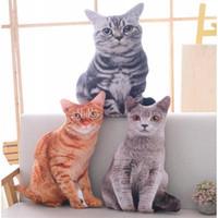 Babiqu 50cm Simulation Plüsch Katze Kissen weiche Plüschtiere Kissen Sofa Dekor Cartoon Plüschtiere für Kinder Kinder Geschenk