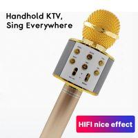 Microphone Professional Bluetooth Wireless Microphone Speaker Handheld Microphone Karaoke Mic Micro Singing Microfone sem fio