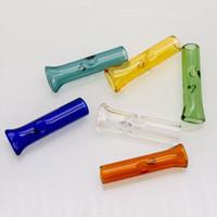 Filtro Dicas coloridos Mini vidro para a seco Herb Tobacco papéis com Tabaco piteira Grosso Pyrex Pipes colorido fumadores Vidro