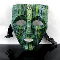 "Weinlese-1pcs Jim Carrey ""THE MASK"" FilmLoki Maske Der Gott des Unfugs Maskerade Replica Halloween Cosplay Props T200509"
