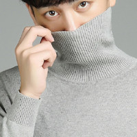 Men's Sweaters 2021 Spring Mens Turtleneck Cotton Pullovers Men Long Sleeve Casual Solid Knitted Sweater Slim Fit Pullover