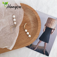Hongye Drop Earrings Three Natural Pearls Women' s Earri...