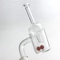 Новый 25 мм XL кварцевый фейерверк карбюратор крышка скошенные фейерверк ногтей с 2 6 мм красный рубин Терп жемчуг стекло карбюратор крышка для водопроводных труб