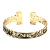 Rune nordique main de 1pc hommes Bangle Viking