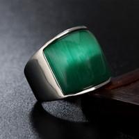 Оптово-дизайн кольца Gemstone титана стали ювелирные изделия мужчины и женщины Классический простой моды личности 20mm Wide Обручальное кольцо