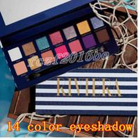 2019 Nouvelle marque Cosmétiques Riviera 14 Couleurs Palette Eau Shadow Palette Shimmer Matte Shadow Maquillage Palette de beauté DHL