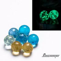 verre terp perle perle spinner perle fit spinner carb cap et banger quartz haut plat 25mm brillent dans l'obscurité 820