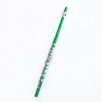 Kutu Ücretsiz Kargo ile öğrenciler için güzel Yeşil Flüt 16 Delik Kapalı Nikel Gümüş Tuşlar Plus E Tuşu Obturator Flüt Enstrüman