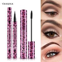 Макияж Тушь Black Eyeliner Карандаш комплект 36H Liquid Eye Liner Pen 4D Толстых Curl Mascara Пол YANQINA Продолжительный водонепроницаемую Косметика для глаз