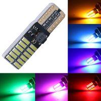 1 قطعة w5w t10 24smd 4014 canbus led سيارة لوحة ترخيص أضواء التخليص حديقة ضوء لمبة 12 فولت