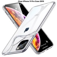 Coque pour iPhone 6 6s 7 8 Plus XS XR Max 11 Pro Max 2019 ultra-transparente et transparente pour iPhone 11, coque souple en TPU, transparent