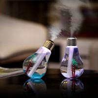 400ML USB humidificador ultrasónico colorido esencial luz de la noche del difusor del aroma del aceite de la lámpara del bulbo con el interior de la forma del paisaje RRA2825-1
