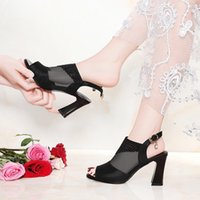 2019 New Sandals Women' s Summer High Heels Nets Spice S...