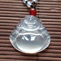 Especies de hielo natural Jade Buddha Guanyin Colgante Amantes del árbol de hielo Jade Colgante Exquisitos regalos de moda Ágata Adornos de Buda