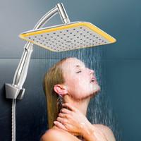 Bagno doccia testa ABS e metallo quadrato quadrato top pioggia doccia testa prolunga tubo cromato bathroom set L0409