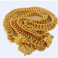 Moda de baixo preço de alta qualidade de ouro cheio de homens * mulheres pingente de colar de corrente de 50rr