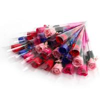 Garofano e Rose Sapone Fiori creativa romantica con favori di nozze Rose saponi fiore per il regalo della madre di San Valentino regalo Presente
