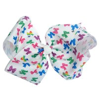 18cm Baby girl Large Bows hair clip Print Grosgrain Ribbon C...