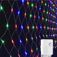 في الهواء الطلق سلسلة حديقة خرافية بقيادة ضوء صافي AC220V 3Mx2M 200LEDs الزفاف شجرة عيد الميلاد الديكور الإضاءة في الهواء الطلق في الأماكن المغلقة ل
