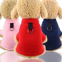 Las mascotas pueden tirar de la cuerda otoño e invierno suéter cálido perro suéter a prueba de viento fresco fresco