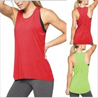 Vêtements de yoga Yoga Fitness Camis Sports D'été Tanks Run Sans Manches Solide Tees Mode Casual Tops Sexy Cross-back Blouses Vestidos B4774