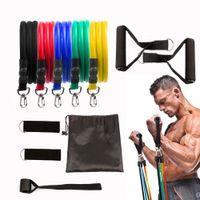 Elastische Widerstandsbänder Sets GUM Fitnessgeräte Dehnung Gummischleifenband für Yoga Training Training Training 18pcs / set