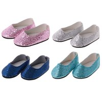 Fashion bling bling 4 Pairs of Sequins Shoes suitable for 14...