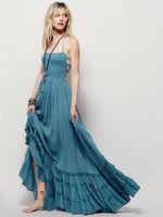 Европейские и американские сексуальные платья Halter висит шеи большие качели пляжное платье длинные юбка 5 цветов