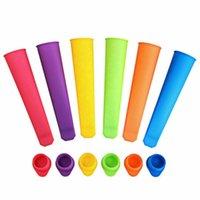 100pcs 20cm Silikon-Pop Joghurt Push Up Eis Eis Lolly Pop Maker Gefrorener Stock Jelly Popsicle Form-Form-DIY