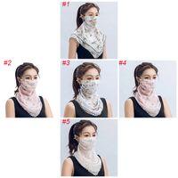 Comparar con artículos similares DHL de envío al aire libre de protección solar pañuelos de cuello polaina de la mascarilla de la cubierta con el PM 2.5 Filtros multiuso Hombres Mujeres M