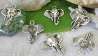 200 pz argento tibetano elefante pendenti con ciondolo per uomo europeo moda donna gioielli collana orecchini orecchini accessori 25x22mm