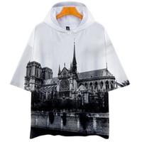 Moda-Notre Dame DE Paris Erkek Kısa Kollu Hoodies Kadın 3D Baskılı O-Boyun Moda Tshirt Erkek Nedensel Giysiler Tops