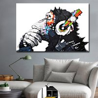 1 Pcs DJ Monkey Posters and Prints Canvas Painting Wall Art ...