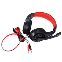 Gaming Fone de ouvido 3.5mm Surround Stereo Headset Headband Headphone com microfone para PC Laptop Baixo Baixo Wired Headset