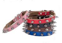 Pure couro bala rebite couro coleira para cães anti-mordendo 10pcs cadeia de acessórios colar de cão / lot W1291