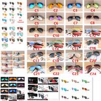 حار مصمم العلامة التجارية الجديدة الكلاسيكية الطيار النظارات الشمسية الدراجات نظارات الشمس للرجال والنساء الأزياء انبهار اللون مرايا نظارات
