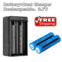 Bateria 2x recarregável 18650 bateria 3000mAh 3.7V BRC Li-ion para Lanterna Tocha Laser + 18650 carregador duplo