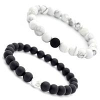 Pedra Natural Talão Pulseiras 8mm Natural Gemstone Beads Casal Pulseiras Stress Relief Contas De Ioga