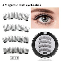 7Style Four magnetic magnet false eyelashes free glue natura...