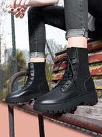 2020 Deri Platformu Martin Çizme Peluş Dantel-up Siyah Kadın ayakkabı su geçirmez Moda Artış lüks tasarımcı Kadınlar Boots 36-40